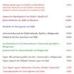 Speisekarte für Mariä Himmelfahrt 2019